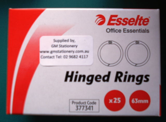 ESSELTE HINGED RINGS & FASTENERS