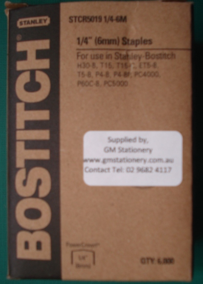 BOSTITCH- T15C- STCR5019 STAPLES