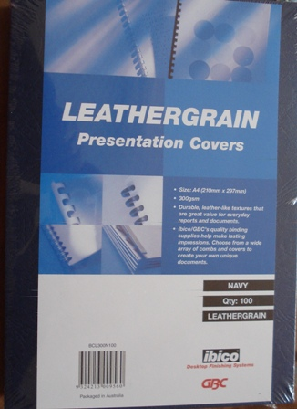 GBC LEATHERGRAIN BINDING COVERS