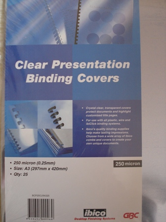 GBC A3 BINDING COVERS