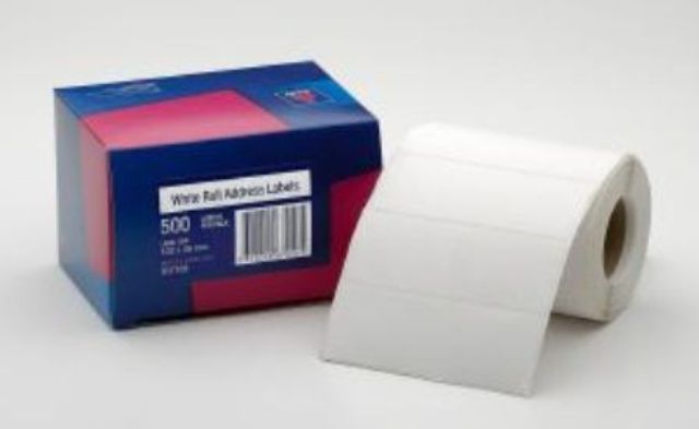 Avery 937109 Address Label 102x36mm 500 Per Roll - Free Ship.