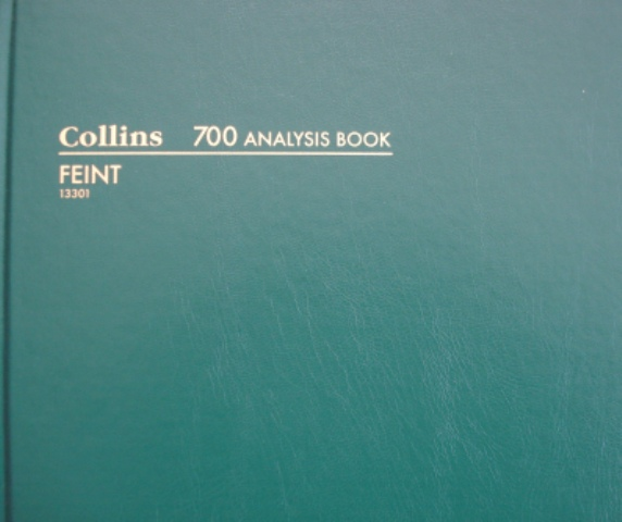 COLLINS ACCOUNT ANALYSIS BOOKS