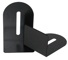 Colby KW221 Black Metal BookEnds Set 225mm High with 110mm Foot