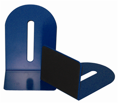 Colby KW221 Blue Metal BookEnds Set 225mm High with 110mm Foot