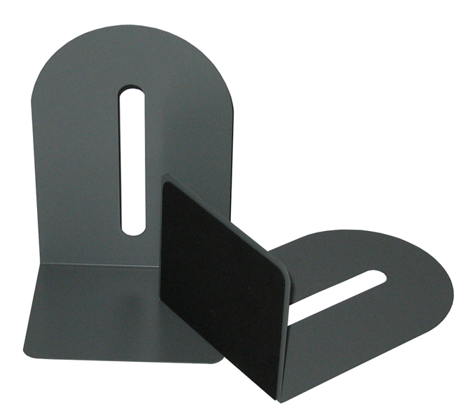 Colby KW221 Grey Metal BookEnds Set 225mm High with 110mm Foot