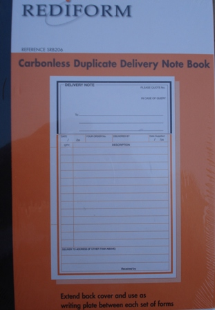 Rediform SRB206 Delivery Note Book Duplicate Pack 5 - Free Ship.